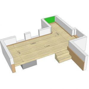 Planungsskizze der Bangkirai-Terasse